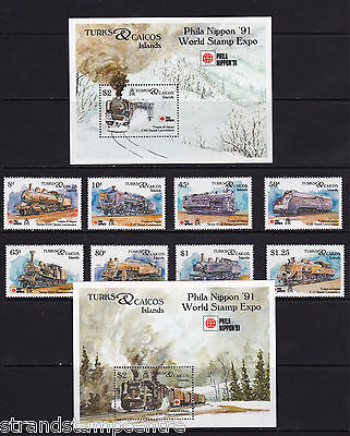 Turks & Caicos Islands - 1991 Phila Nippon (Locomotives) - U/M