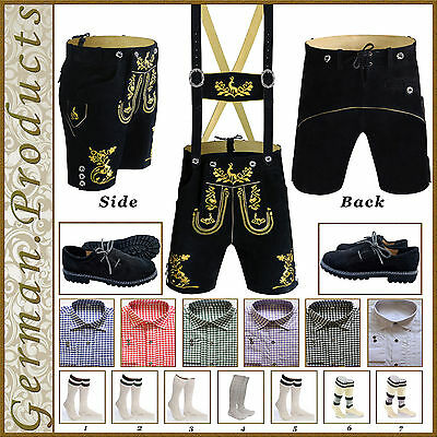 German Bavarian Trachten Oktoberfest Short Lederhosen Men's Wear Package / Set