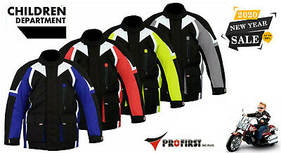 ProFirst Motorbike Motorcycle Children Jacket Kids Gear Removable Armour Coat