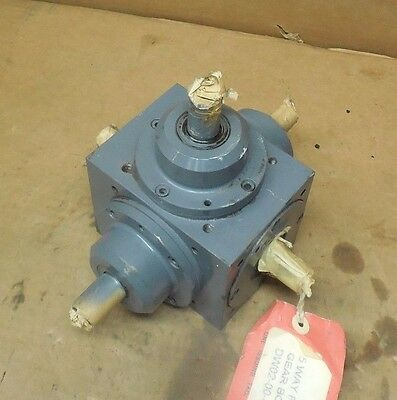 Tandler 01-2A Xh-S515 5-Way Right Angle Gearbox Speed Reducer 1:1