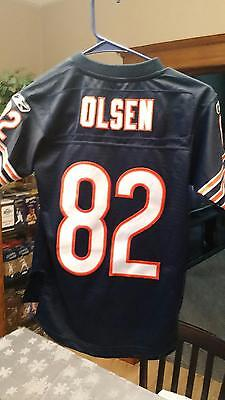 ce9fb0add08 Pre-Owned Nfl Chicago Bears Greg Olson #82 Reebok Football Jersey Youth  Size S
