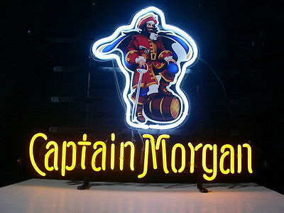 Captain Morgan Rum Neon Light Sign 17''x14''