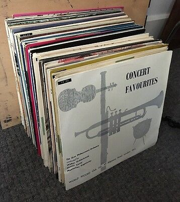 59 Lp Wrc Orchestral World Record Club Large Classical Music Collection Ex