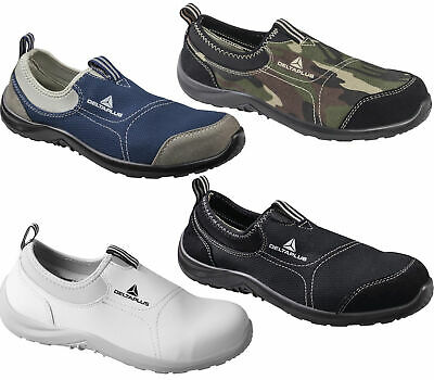Mens/Womens Delta Plus Miami Slip On Canvas Safety Steel Toe Shoes Sizes 3 to 13