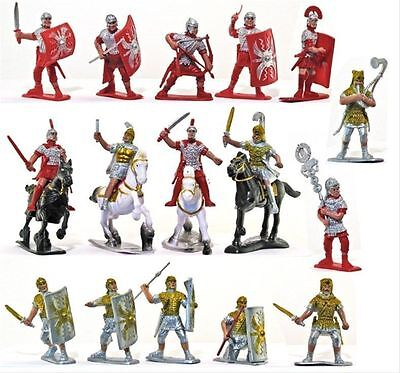 Supreme 2.5 inch Roman Soldier set 16 Troops 12 foot and 4 mounted