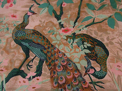 Vintage curtaining 'Peacock Panel' of Gold and silks and spices' 1979 Greeff