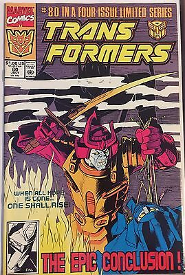 Transformers 80 VHTF Final Issue Simon Furman Wildman Last High Grade NM