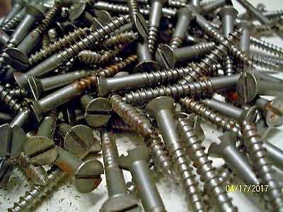 "40 - Vintage 2"" X 12, Slotted Flat Head Wood Screws, By The American Screw Co."