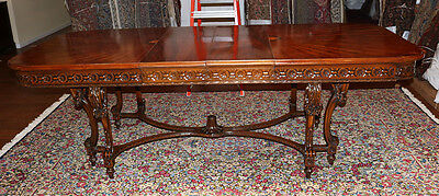 Masterful French Inlaid Satinwood Louis XV Dining Table w Leaves MINT C1920