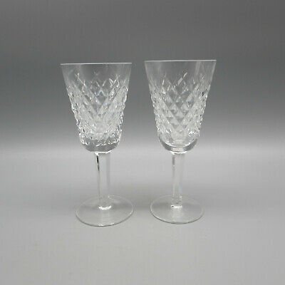 SET OF TWO - Waterford Crystal ALANA Sherry Wine Glasses