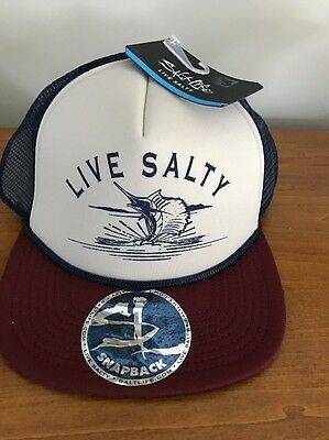 SALT LIFE MESH Trucker Baseball Hat Cap SnapBack Adjustable NWT ... abbe751aeec