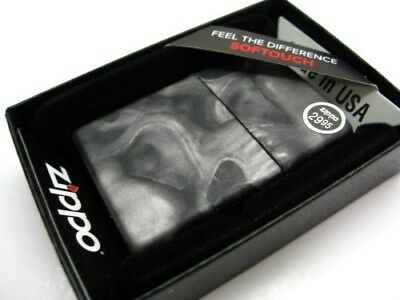ZIPPO Full Size Softouch Finish SMOKY SKULL Classic Windproof Lighter! 28970