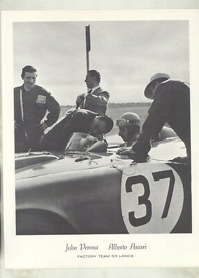 1956 John Perona Alberto Ascari Lancia D24 Race Car ORIGINAL Photo Print ww8789