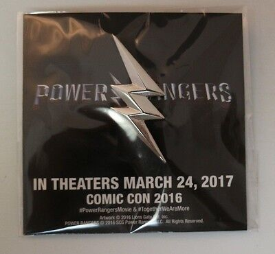 SDCC Comic Con 2016 Power Rangers Movie Exclusive Promotional Pin