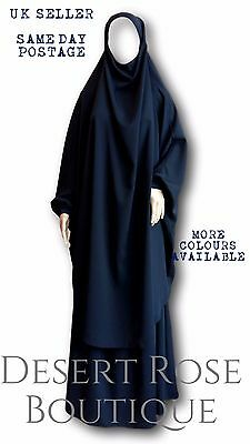 SUPERIOR QUALITY NEW 2 Piece Skirt & Sleeved Khimar with Integrated Niqab Option