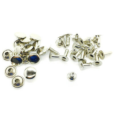 100 Sets Single Sided Rivet Studs Brass Rust Proof for Leather-crafts 8 to 10mm