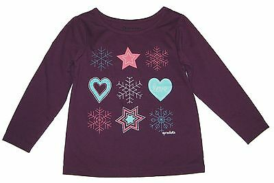 NWT Long Sleeve Purple Baby Girl Top Tee Shirt Cotton Toddler Infant Girl 2t 3t