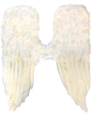White Feather Large Angel Wings One Size