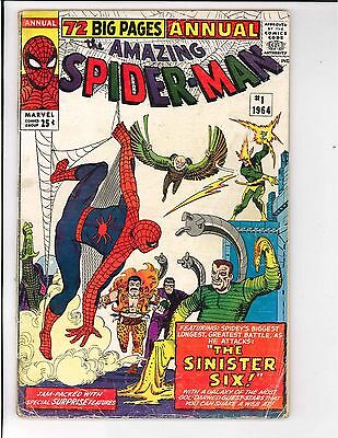 The Amazing Spider-Man Annual #1 1st Appearance of Sinister Six Marvel 1964