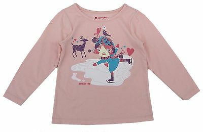 NWT Long Sleeve Pink Baby Girl Top Tee Shirt Cotton Toddler Infant Girl 12m 2t 3