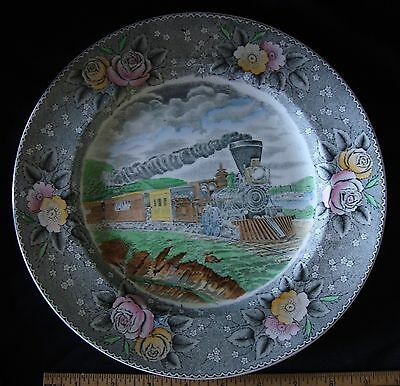 """Adams Currier Engravings For the People 10.5"""" Express Train Collector Plate"""