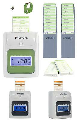 Employees Card Time Clock Punch In System Payroll Machine Electronic Office New