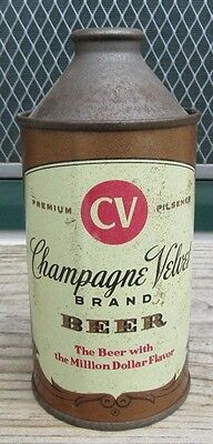 Vintage Straight Steel Champagne Velvet 12 FL OZ Cone Top Beer Can
