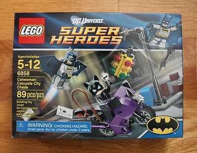 LEGO DC Super Heroes Batman 6858 Catwoman Catcycle City Chase New in sealed box