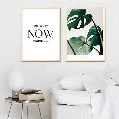 Nordic Art Leaves Motivational Canvas Art Poster Modern Home Wall Decoration