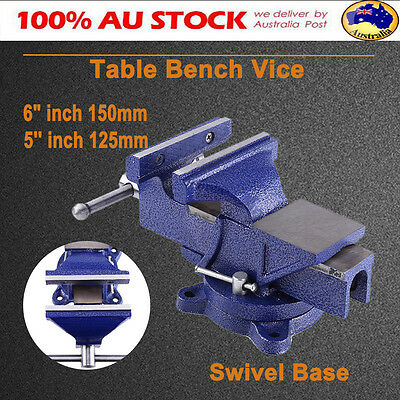 "360°Swivel Base Heavy Duty Table Bench Vice Grip Clamp 4"" 5"" 6"" inch Workshop"