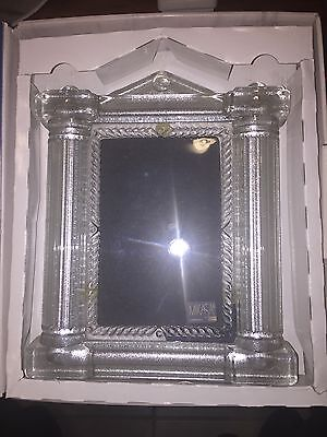 Mikasa Germany Heavy Clear Glass Picture Frame Original Walther Glass In Box