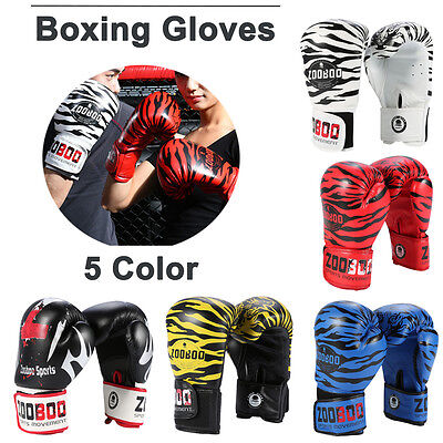 Pair Boxing Sparring Gloves Punch Bag Mitt UFC Fight Training 8oz-10oz 5 Colors