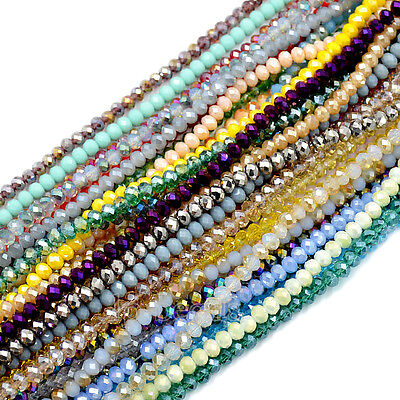 4x6mm 100pcs Faceted Czech Crystal Rondelle Glass Beads For Bracelet Necklace
