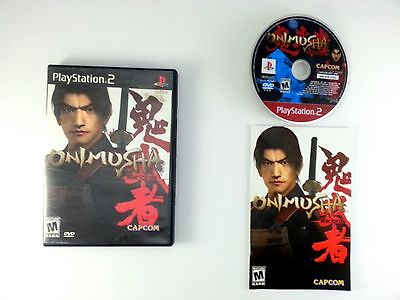 Onimusha Warlords game for Sony Playstation 2 PS2 -Complete