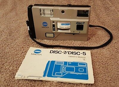 Vintage MINOLTA DISC-7 POINT & SHOOT DISC Film CAMERA
