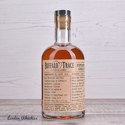 Buffalo Trace Experimental Collection 15YO Ultra Rare Bourbon Whiskey 45% 375ml