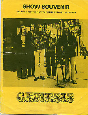 Original 1973 Genesis concert souvenir program Foxtrot Tour Bristol UK