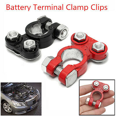 2Pcs Universal Car Battery Terminal Quick Release Battery Clamp Connector N & P