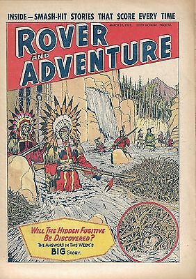 22 Issues Of Rover And Adventure Comic 1961 - 1963. Vgc. Dc Thomson.