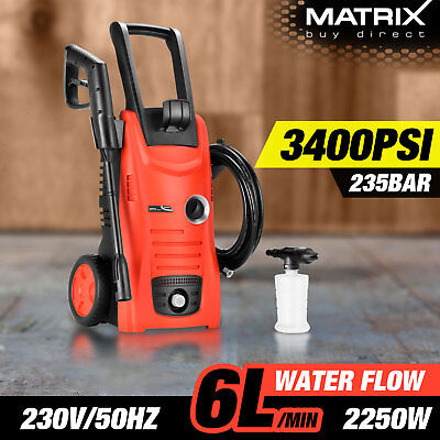 New Matrix 3400 PSI High Pressure Washer Cleaner Electric Water Gurney 5M Hose