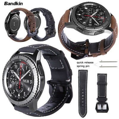Real Leather Strap for Samsung Gear S3 Classic Frontier Galaxy Watch 46mm Band