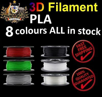 3D Printer Printing Filament ABS PLA 1.75mm 1KG Spool Aussie Stock 10 Colour