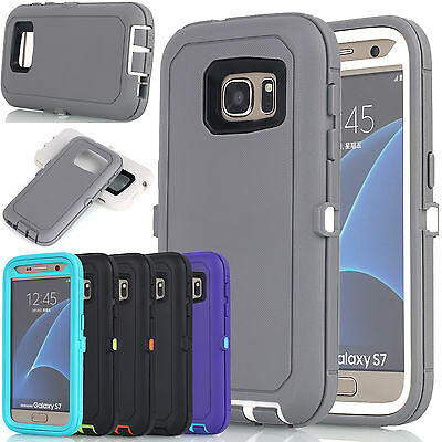 Rugged Shockproof Hybrid Rubber Heavy Duty Case Cover For Samsung Galaxy S7 edge