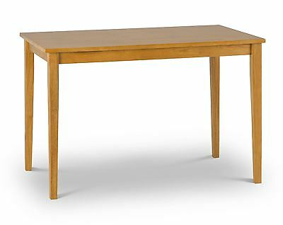 Julian Bowen Cleo Solid Wood Dining Kitchen Table Only Natural Oak seat up to 4.
