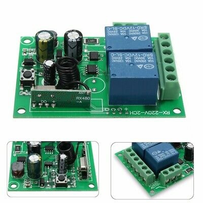 1/2/4 CH Channel 315/433MHz DC Wireless RF Remote Control Receiver Relay Switch