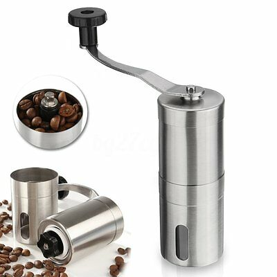 Stainless Steel Manual Nut Spice Coffee Bean Grinder Mill Grinding Tool Espresso