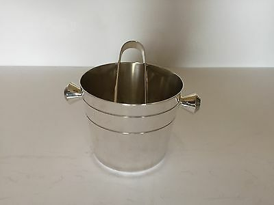 LOVELY SILVER PLATED ICE BUCKET AND TONGS (ELKINGTON & Co)