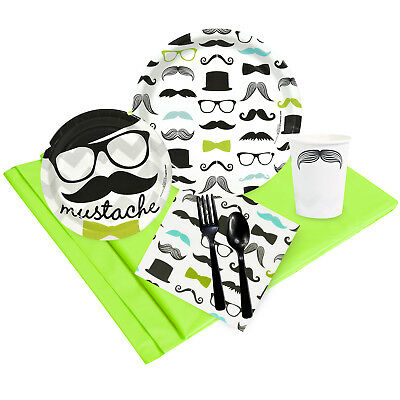 Mustache Man Party Pack for 24