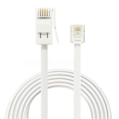 4 WIRE FLAT BT Telephone Cable Wire for RJ11 RJ10 15m - £1.79 ...