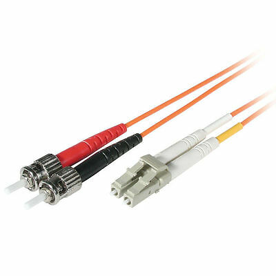 Cables to Go 1m LC/ST LSZH Duplex 62.5/125 Multimode Fibre Patch Cable - Orange
